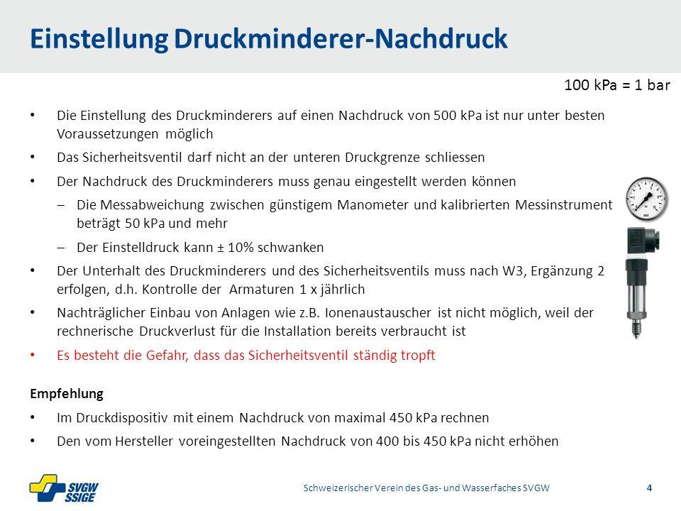 1/2Right11.60Left 11.601/2 7.60 Placeholder 6.00 6.80 Placeholder title Placeholder Top 9.20 Bottom 9.20 Center 0.80 Rohrweitenbestimmung HAL Schweizerischer Verein des Gas- und Wasserfaches SVGW5 m3m3 p 800 LU50 LU700 LU3000 LU di = 0.00344 m 3 /s x 4 1.9 m/s x  = 0.048 m = 48 mm ≈ NW 50 Q D = (3000 LU x 0.1) 0.353 x 0.459= 3.44 l/s = 0.00344 m 3 /s = 206 l/min = 12.4 m 3 /h Durchflussbestimmung V =A x v d 2 x π x v 4 Vorbestimmung der Rohrweite 700 LU750 LU PE 100, SDR 11,63 x 5.8=di 51.4mm V4A, 1.4401,54 x 2.0=di 50.0mm