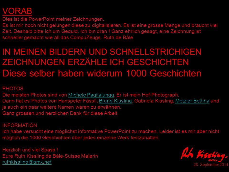 K 15 Schubert-Messe Konzert Basel Martinskirche Tusche 1986 Publikation als Einladungskarte etc.