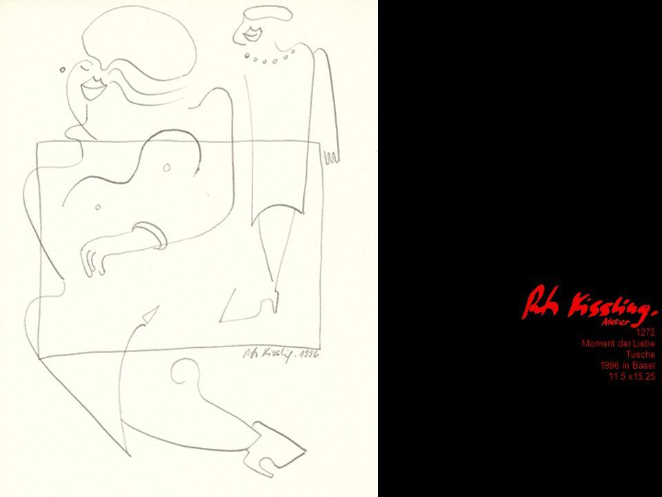 1272 Moment der Liebe Tusche 1996 in Basel 11.5 x15.25