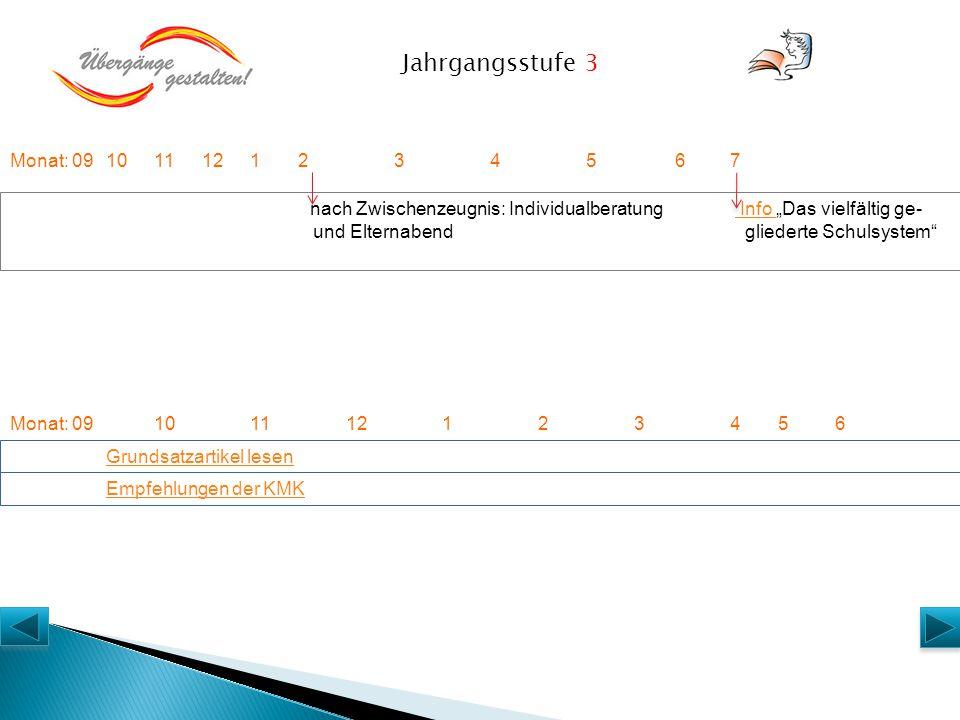 """Monat: 091011 1212345 6 Grundsatzartikel lesen nach Zwischenzeugnis: Individualberatung Info """"Das vielfältig ge- und Elternabend gliederte Schulsystem"""