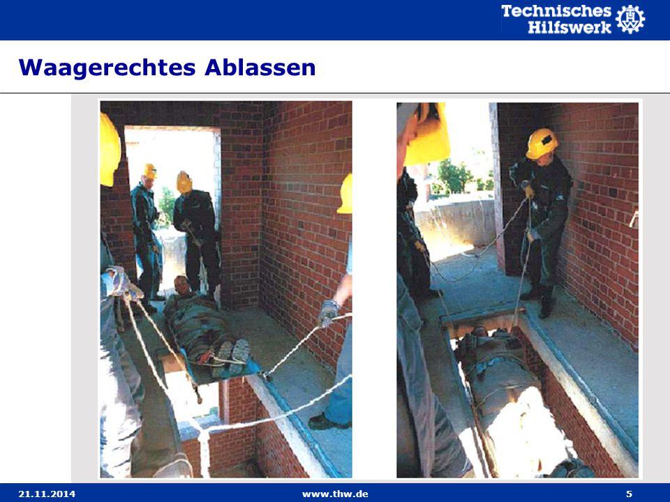 21.11.2014www.thw.de26 Seilbahn - Anwendungsbereich Die Seilbahn besteht aus einem Tragseil und zwei Veran- kerungen.