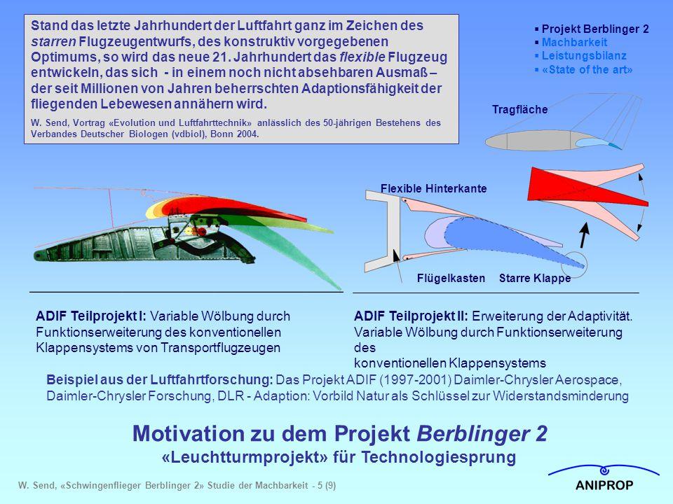 Motivation zu dem Projekt Berblinger 2 «Leuchtturmprojekt» für Technologiesprung Stand das letzte Jahrhundert der Luftfahrt ganz im Zeichen des starre
