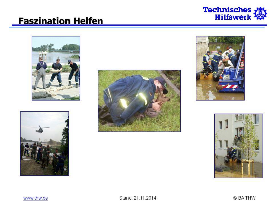 www.thw.deStand: 21.11.2014© BA THW Faszination Helfen