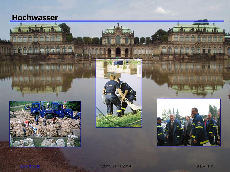 www.thw.deStand: 21.11.2014© BA THW Hochwasser
