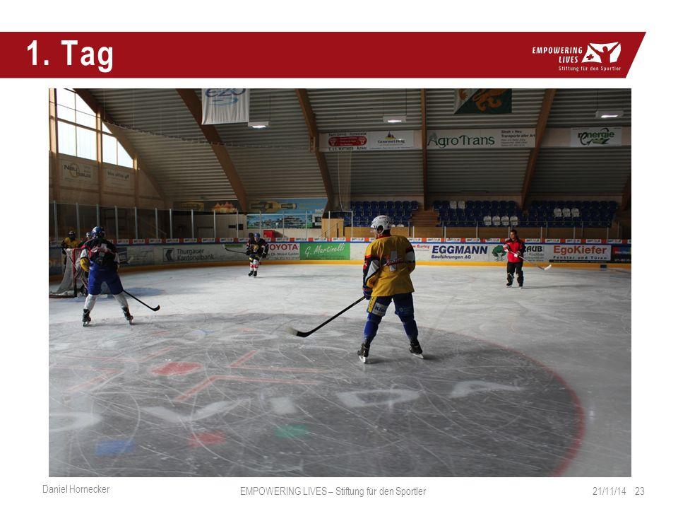 1. Tag 21/11/14 23 Daniel Hornecker EMPOWERING LIVES – Stiftung für den Sportler