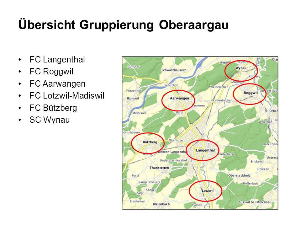 FC Langenthal FC Roggwil FC Aarwangen FC Lotzwil-Madiswil FC Bützberg SC Wynau Übersicht Gruppierung Oberaargau