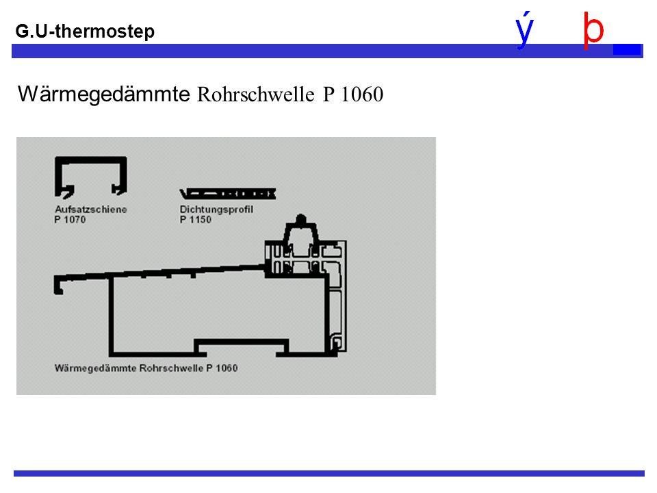 Wärmegedämmte Rohrschwelle P 1060 G.U-thermostep