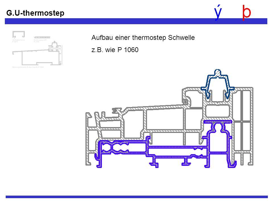 G.U-thermostep Aufbau einer thermostep Schwelle z.B. wie P 1060