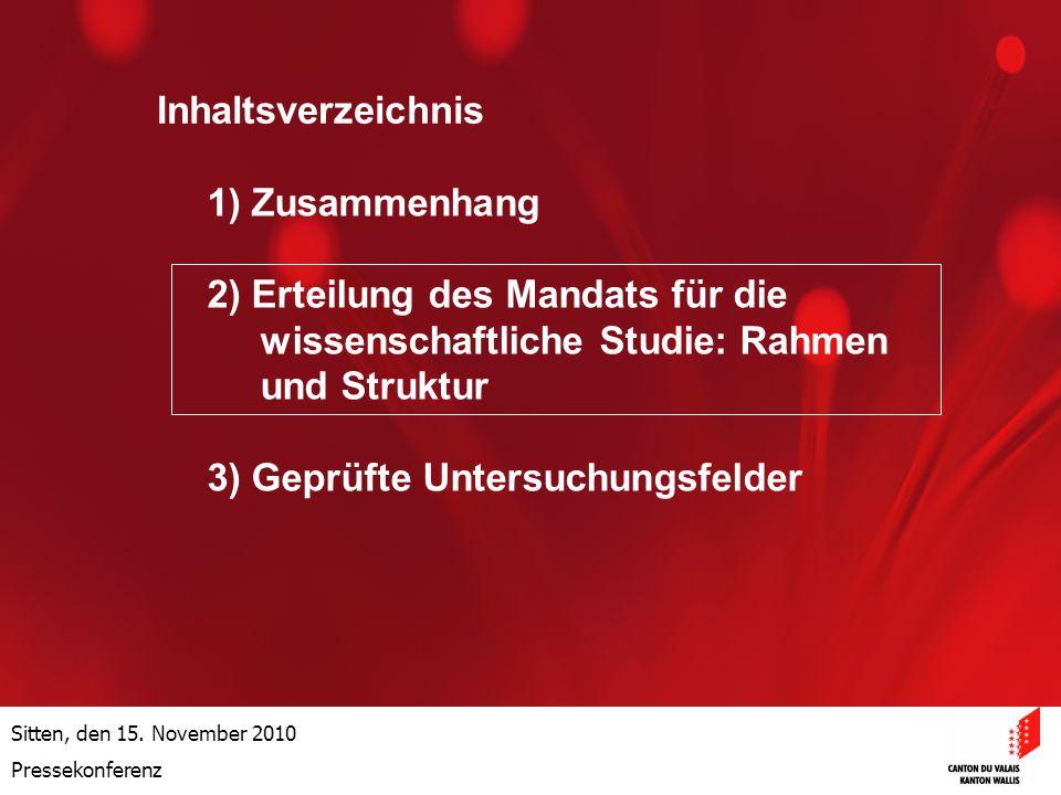 Optimisation de la Promotion économiqueOptimisation de la promotion économique Sitten, den 15.