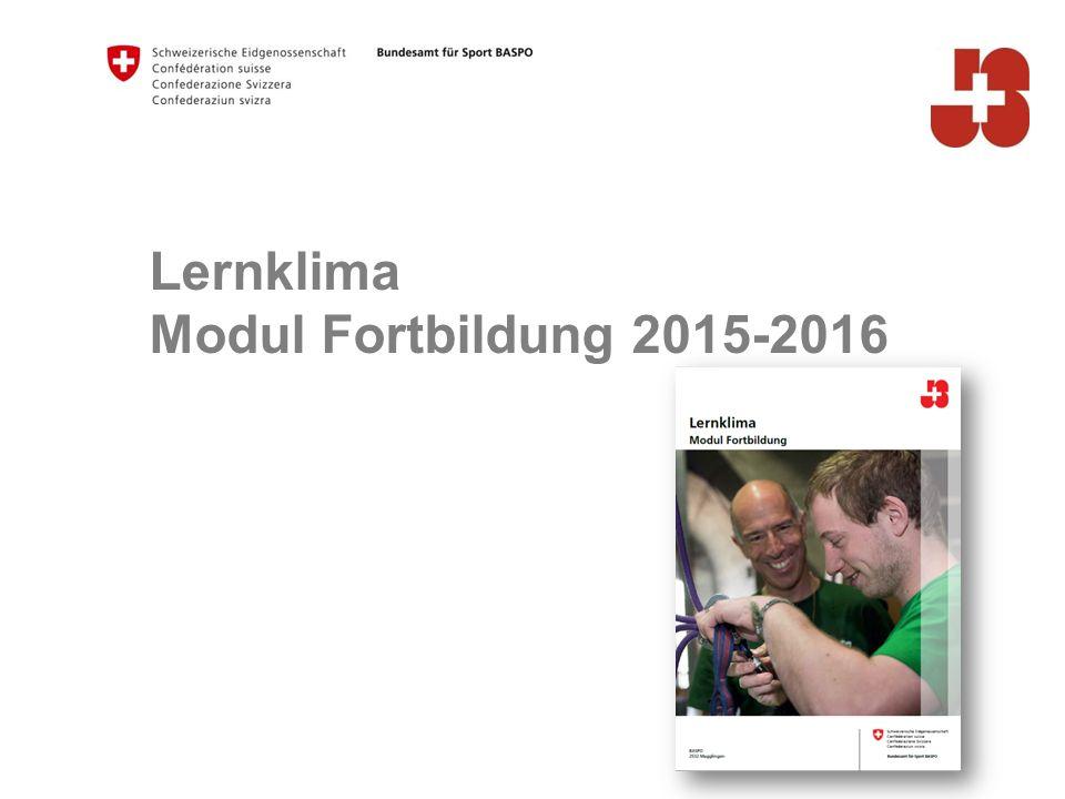 Lernklima Modul Fortbildung 2015-2016