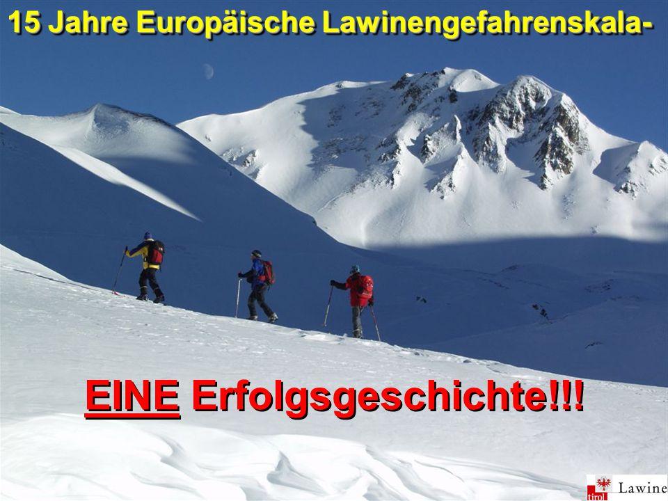 EINE Erfolgsgeschichte!!! 15 Jahre Europäische Lawinengefahrenskala-