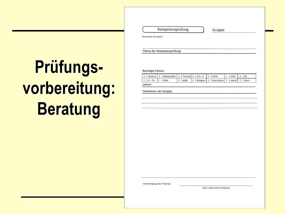 Prüfungs- vorbereitung: Beratung