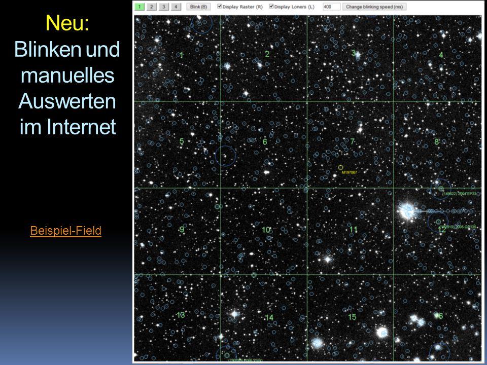 Neu: Blinken und manuelles Auswerten im Internet Beispiel-Field