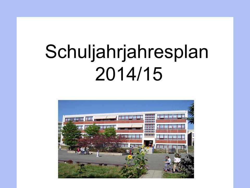Jahresplanung 2014/15 Beschlussfassung über den Schuljahresarbeitsplan 2 Schulfreie Tage: 01.12.2014 14.05.2015 Himmelfahrt B.Steinbach