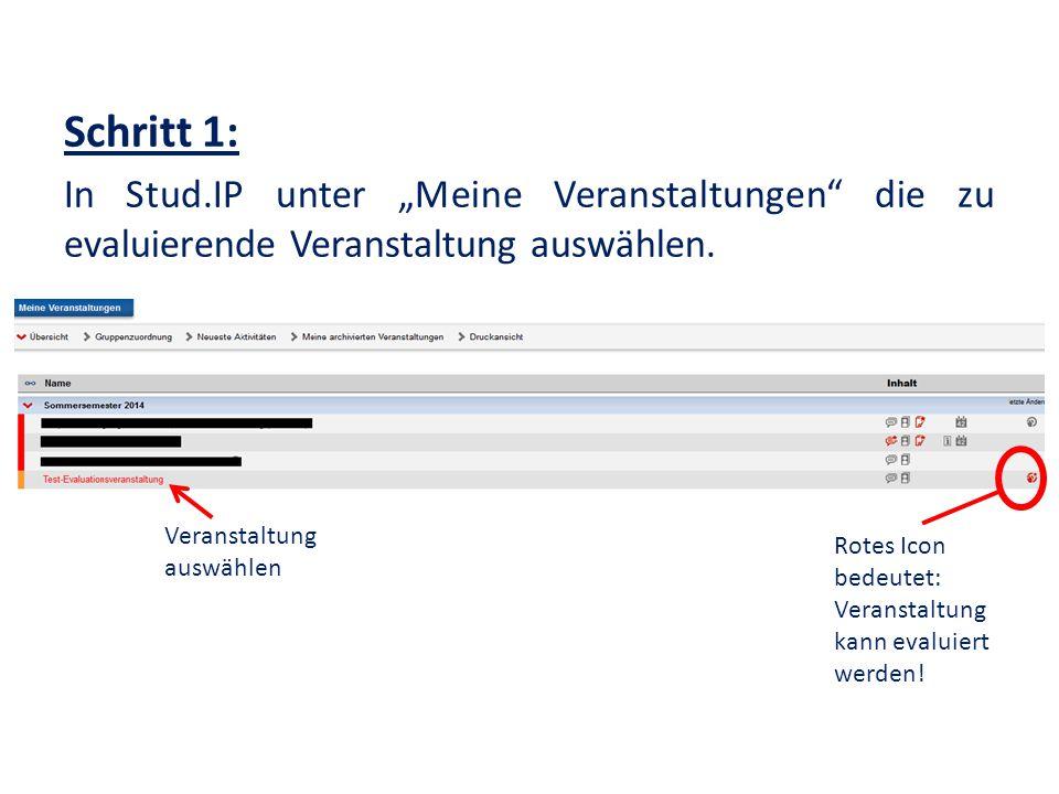 """Schritt 2: Den Reiter """"Lehrevaluation Unizensus auswählen und den Fragebogen aufrufen."""