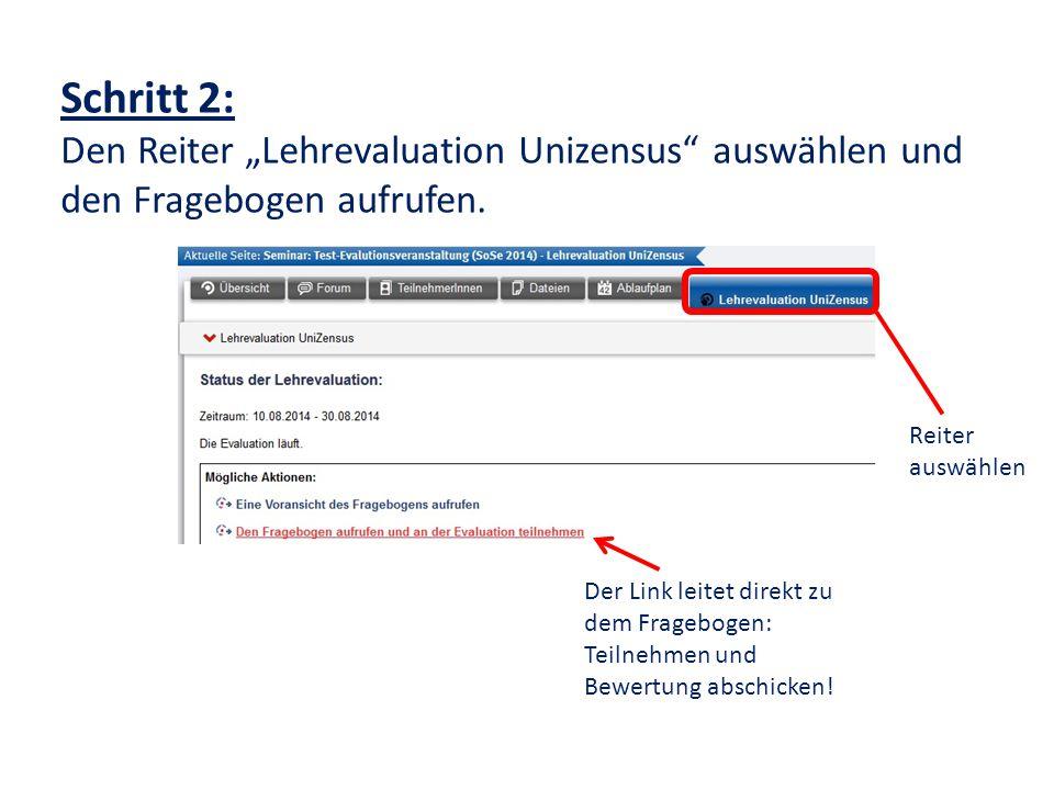 Schritt 3: Nach Ablauf des Evaluationszeitraums Besprechung der Ergebnisse mit der/dem DozentIn.