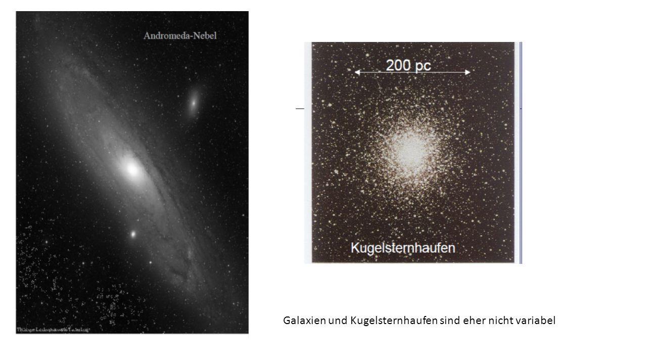 Galaxien und Kugelsternhaufen sind eher nicht variabel