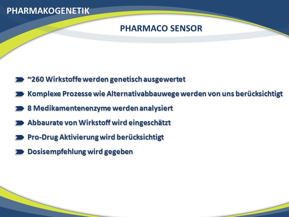 Ende des Kapitels Pharmakogenetik: Medikamentenunverträglichkeiten (Pharmaco Sensor) 20