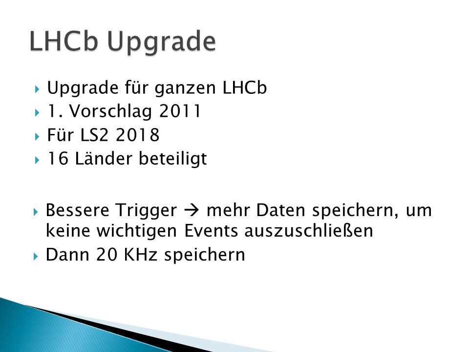  Upgrade für ganzen LHCb  1.