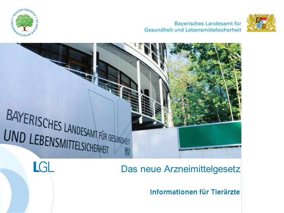 www.lgl.bayern.de Antibiotikaeinsatz und Resistenzraten in der Tierhaltung Das neue Arzneimittelgesetz; Informationen für Tierärzte2