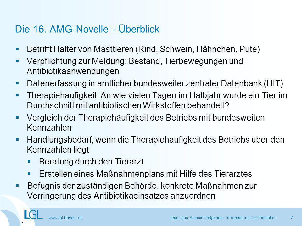 www.lgl.bayern.de Kennzahlen 1 und 2: Beispiel mit 100 Betrieben Das neue Arzneimittelgesetz; Informationen für Tierhalter28