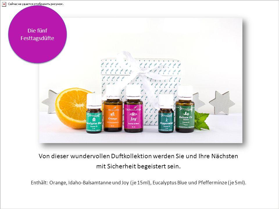 Enthält: Starterset Basic , Everyday Oils-Kollektion, Home diffuser und Citrus Fresh (5ml) in einer festlichen Geschenkverpackung.