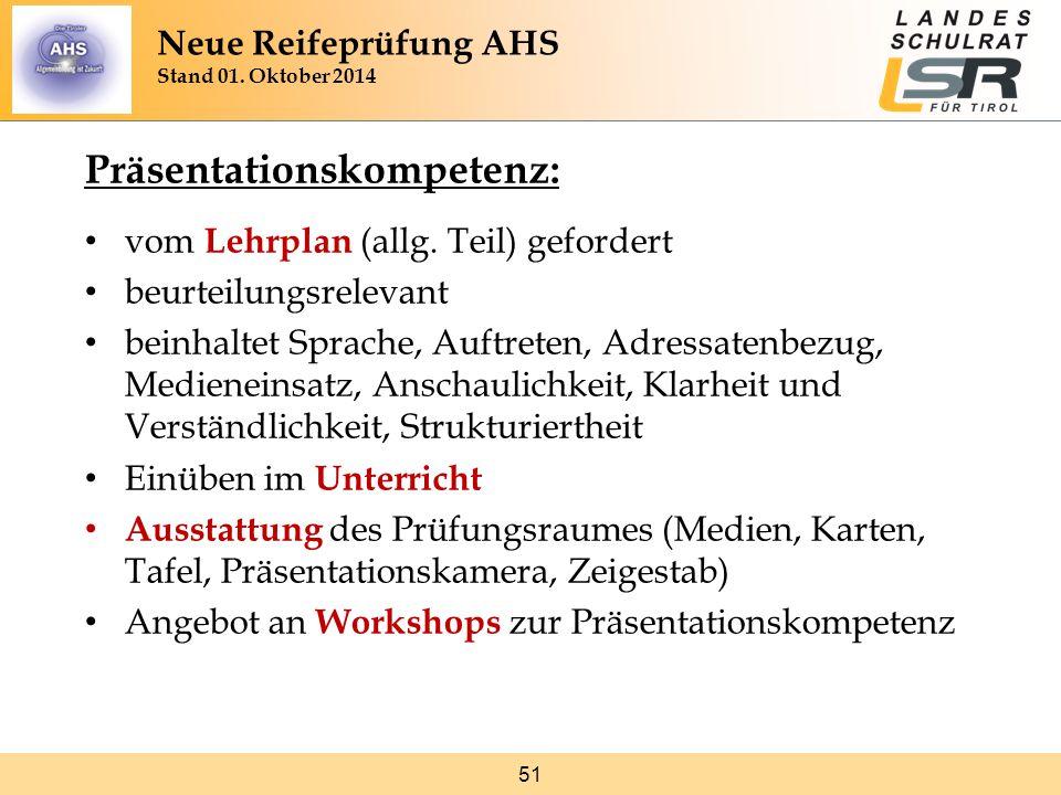 51 Präsentationskompetenz: vom Lehrplan (allg.