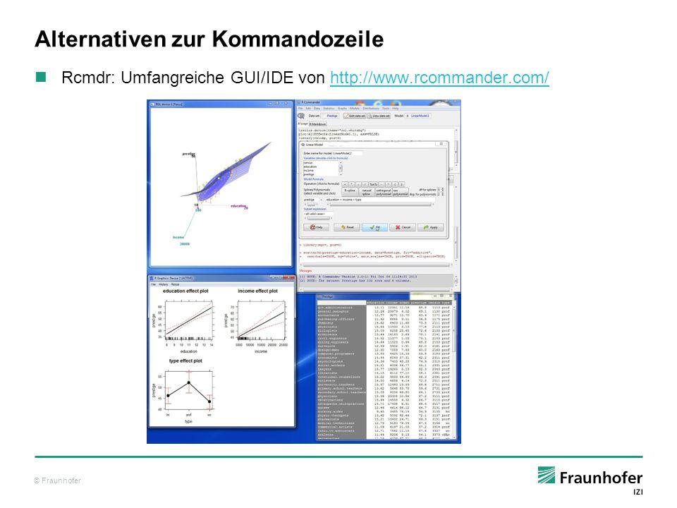 © Fraunhofer Nächste Schritte: Was kann man mit R alles machen.