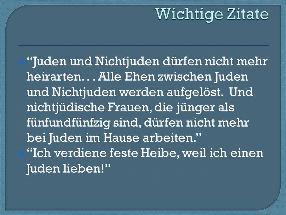  Juden und Nichtjuden dürfen nicht mehr heirarten...