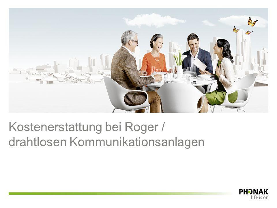 Kostenerstattung bei Roger / drahtlosen Kommunikationsanlagen