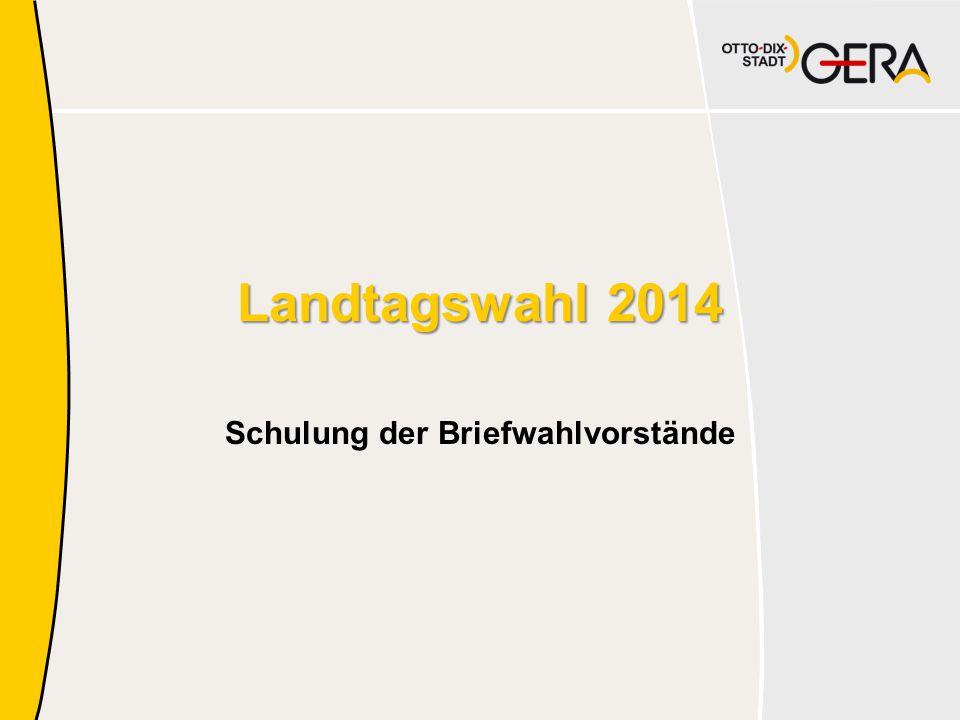 Landtagswahl 2014 Schulung der Briefwahlvorstände