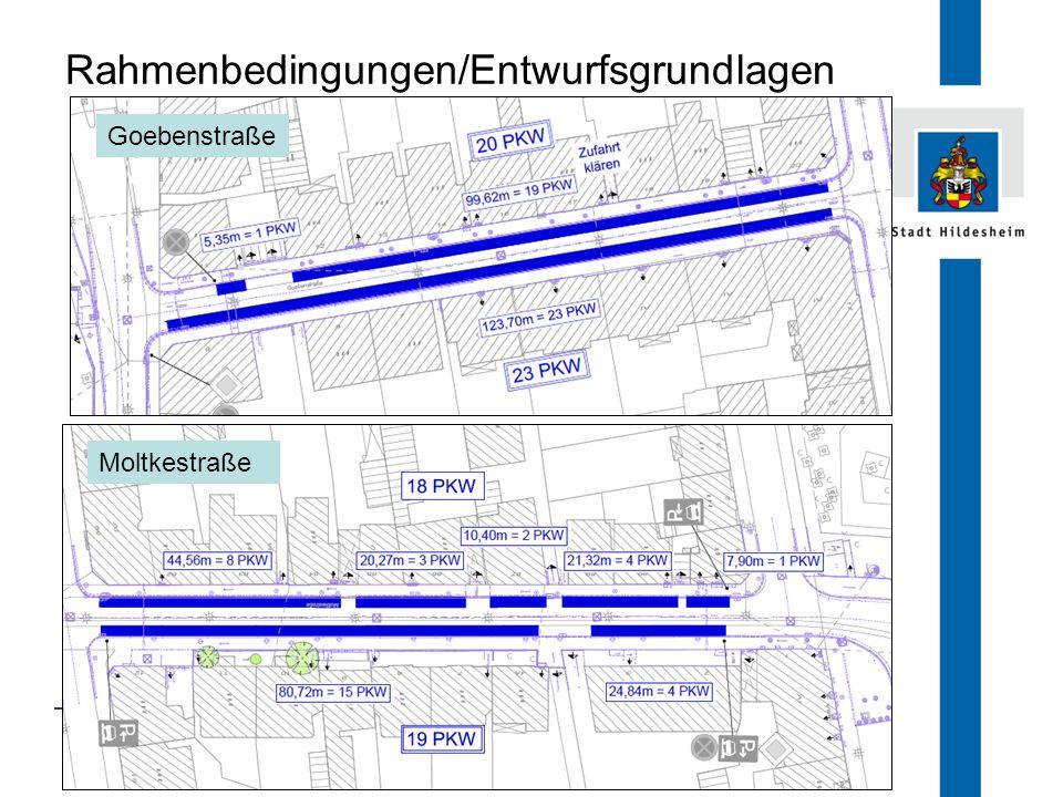 FB 66.1 Rahmenbedingungen/Entwurfsgrundlagen Goebenstraße Moltkestraße