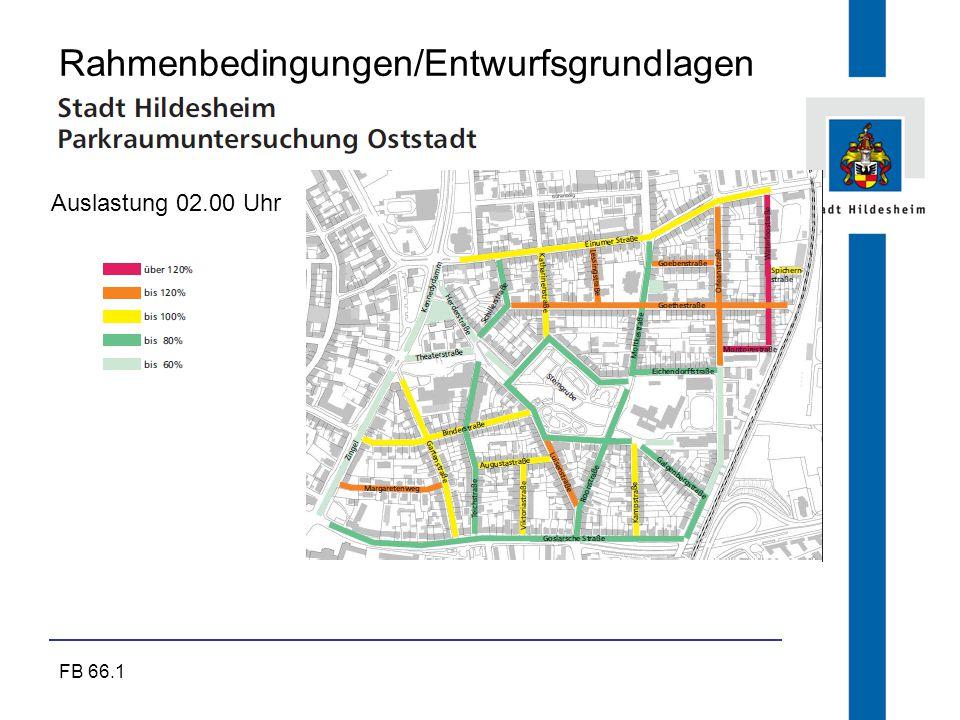 FB 66.1 Rahmenbedingungen/Entwurfsgrundlagen Auslastung 02.00 Uhr