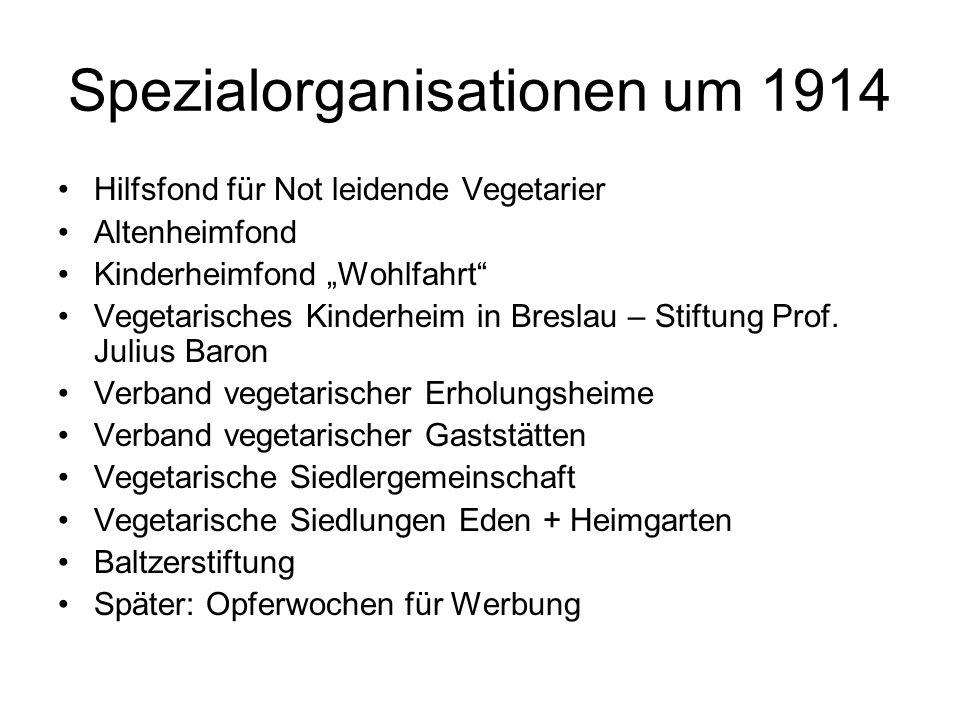 """Spezialorganisationen um 1914 Hilfsfond für Not leidende Vegetarier Altenheimfond Kinderheimfond """"Wohlfahrt"""" Vegetarisches Kinderheim in Breslau – Sti"""