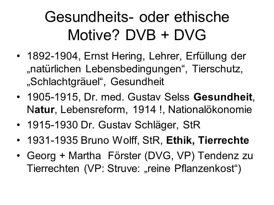 """Gesundheits- oder ethische Motive? DVB + DVG 1892-1904, Ernst Hering, Lehrer, Erfüllung der """"natürlichen Lebensbedingungen"""", Tierschutz, """"Schlachtgräu"""
