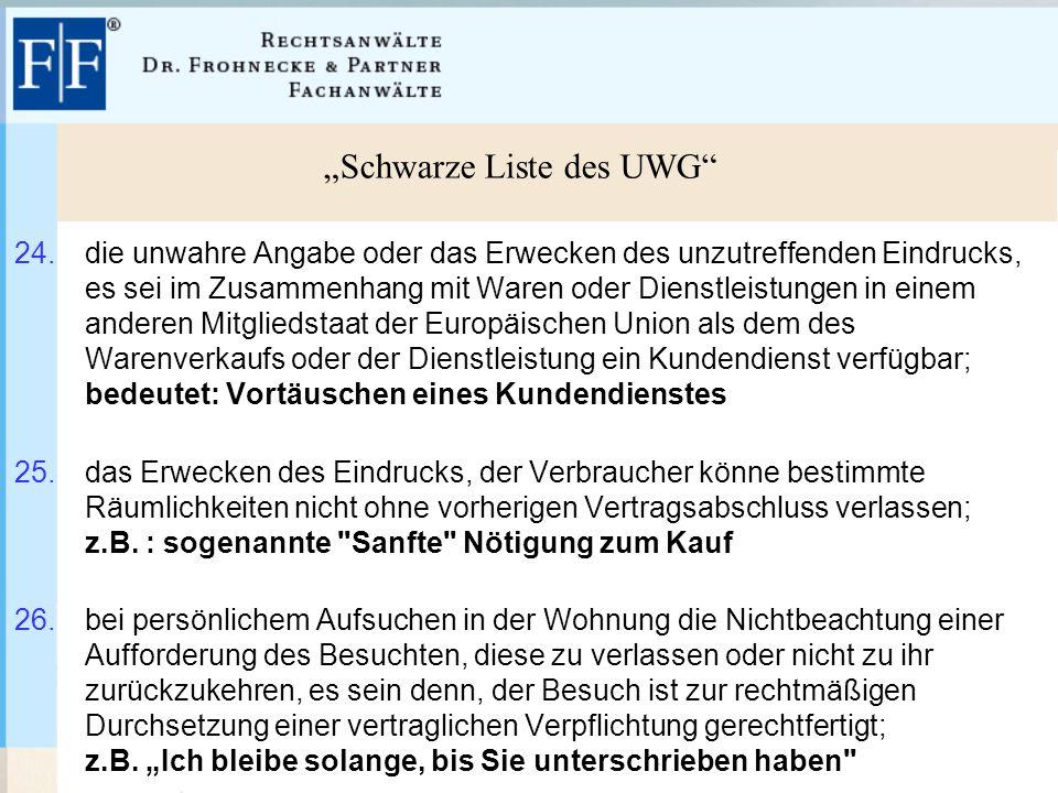 """""""Schwarze Liste des UWG 24."""