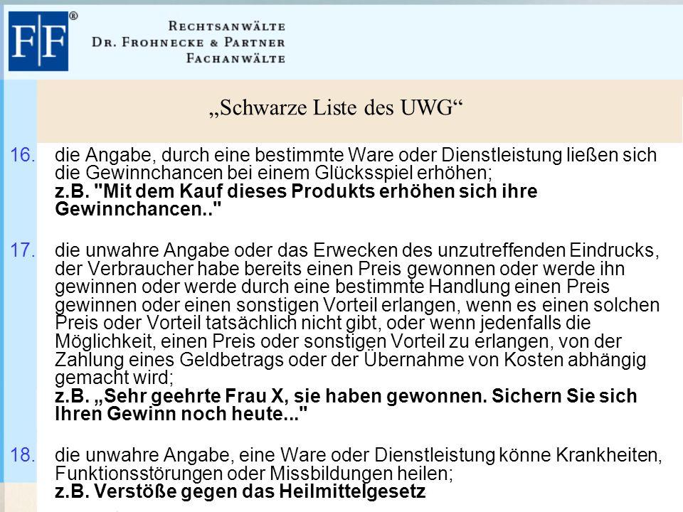 """""""Schwarze Liste des UWG 16."""