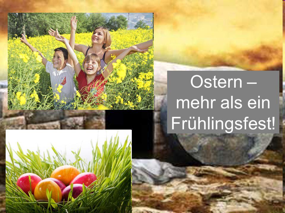 Ostern ist das Erdbeben für alle unsere Gewissheiten!