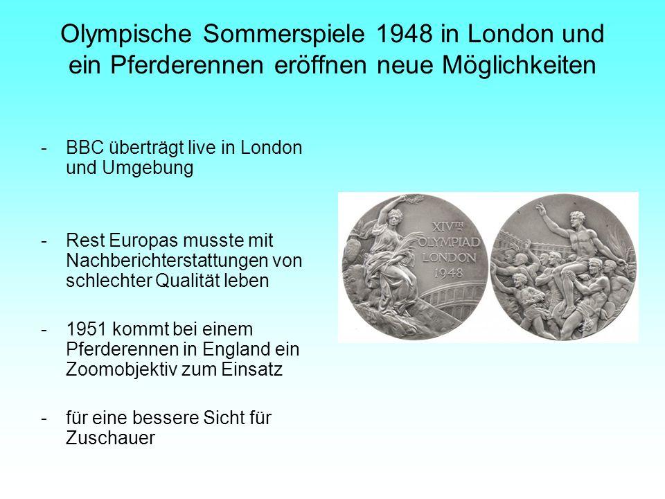 Olympische Sommerspiele 1948 in London und ein Pferderennen eröffnen neue Möglichkeiten -BBC überträgt live in London und Umgebung -Rest Europas musst
