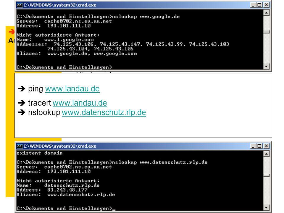 DatenschutzFreiermuth Wolfgang4  Adressierung im Internet IP-Adressen: IPv4 – 32 Bit in 4 Gruppen je 8 Bit.