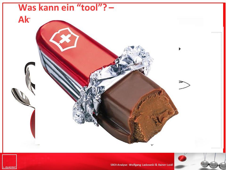 L QUADRAT SROI-Analyse: Wolfgang Laskowski & Rainer Loidl Was kann ein tool ? – Aktiv testen
