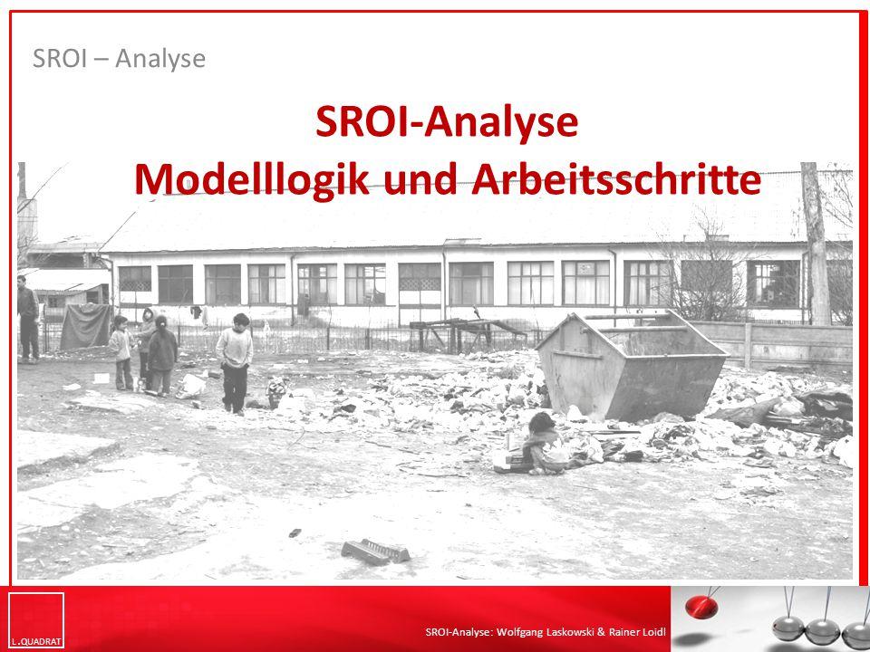L QUADRAT SROI-Analyse: Wolfgang Laskowski & Rainer Loidl SROI – Literaturliste (2) Nicholls, J., Lawlor, E., Neitzert, E., & Goodspeed, T.