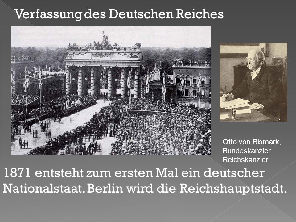 1871 entsteht zum ersten Mal ein deutscher Nationalstaat.