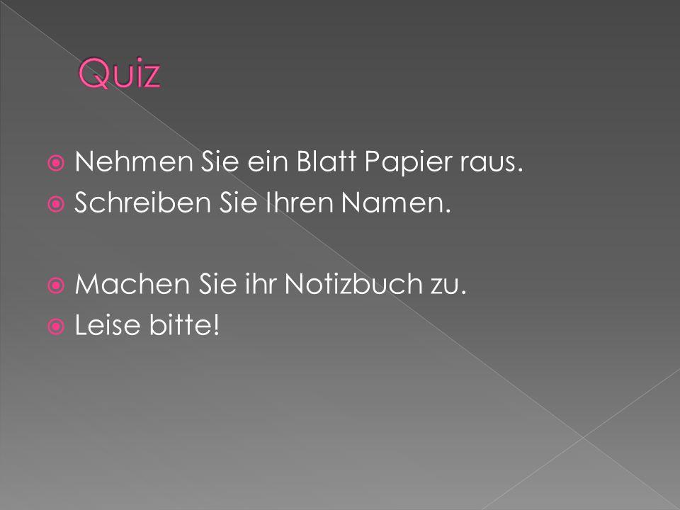  Schreiben Sie die Worte in Deutsch:  1.reunification  2.
