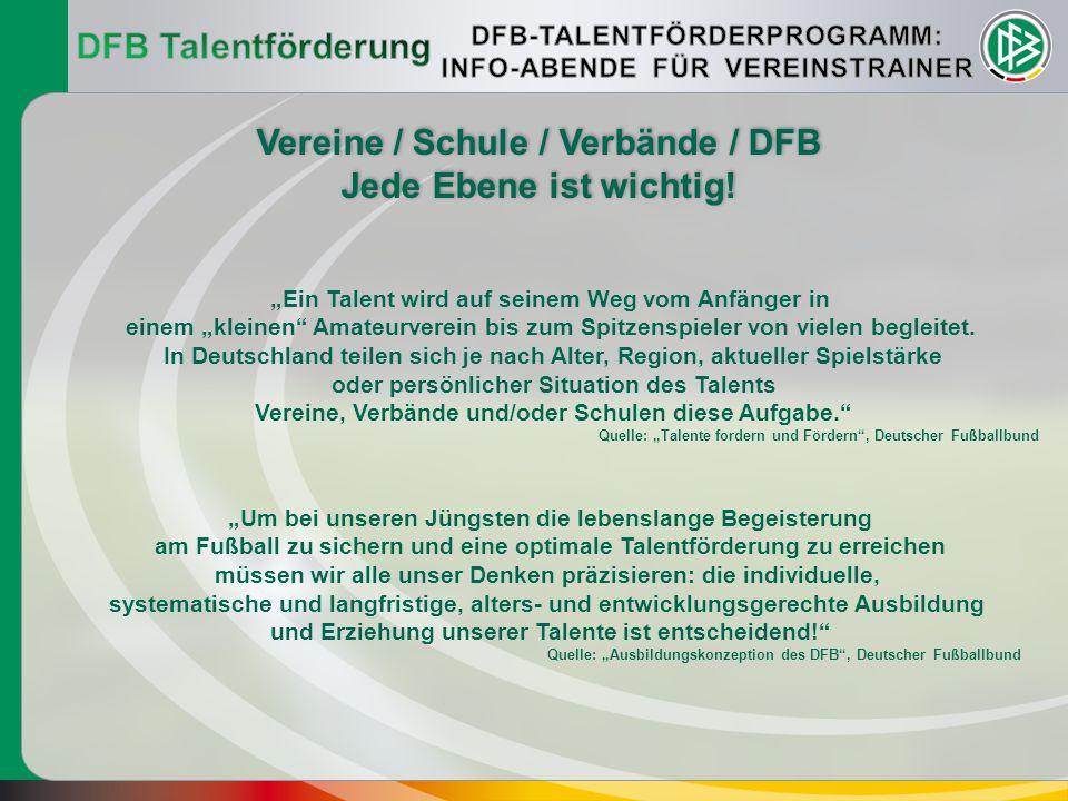 """""""Ein Talent wird auf seinem Weg vom Anfänger in einem """"kleinen"""" Amateurverein bis zum Spitzenspieler von vielen begleitet. In Deutschland teilen sich"""