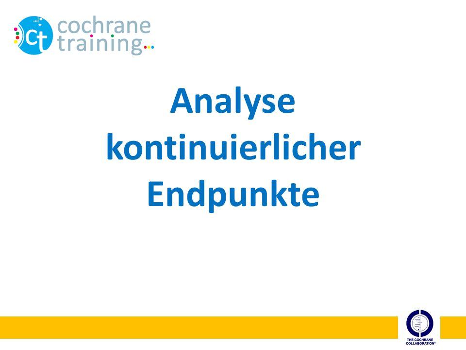 cochrane training Interpretation der Mittelwertdifferenz Wie wird eine Differenz von -13 Punkten interpretiert.