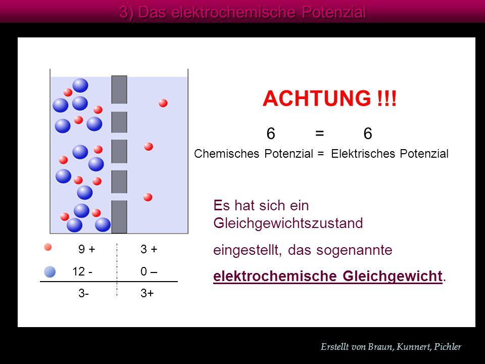 Erstellt von Braun, Kunnert, Pichler 3) Das elektrochemische Potenzial ACHTUNG !!.
