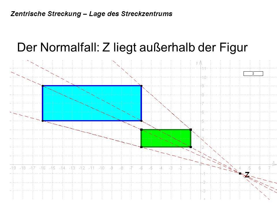 Zentrische Streckung – Lage des Streckzentrums Der Normalfall: Z liegt außerhalb der Figur