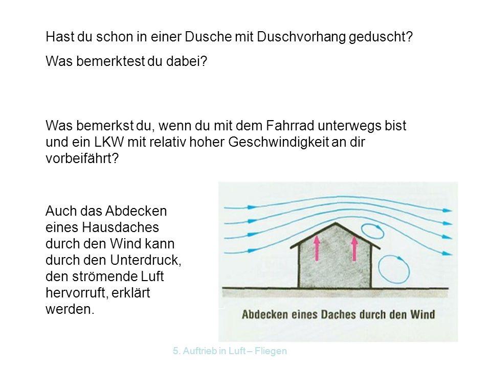 5. Auftrieb in Luft – Fliegen Wasserstrahlpumpe Wasser Luft Anwendungen: Zerstäuber
