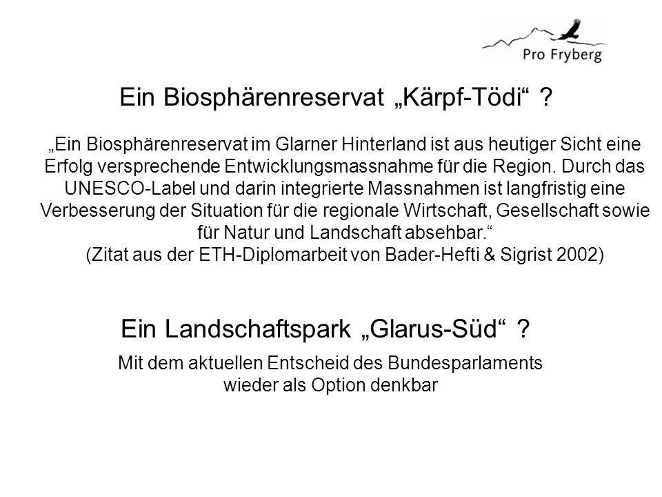 "Ein Biosphärenreservat ""Kärpf-Tödi ."